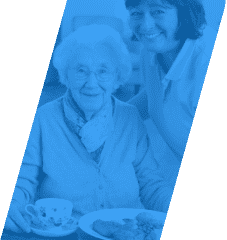 caregiver and an old woman