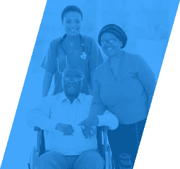 caregiver and her two old patients